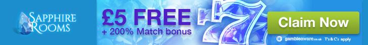 Sapphire Rooms Mobile Casino bonus